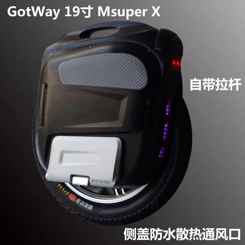 Neue Gotway Msuper X-S modell 100 V 1230WH, 19 zoll High-leistung elektrische einrad, max geschwindigkeit ist 65 km/std 2000 watt motor