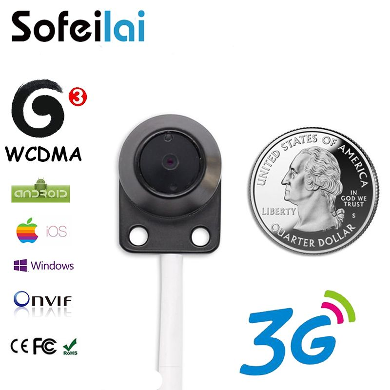 Sofeilai Mini 3G Wireless IP Camera 720P Sim Card Slot Small Motion Detect Onvif Security Monitor P2P Network CCTV Cameras WCDMA