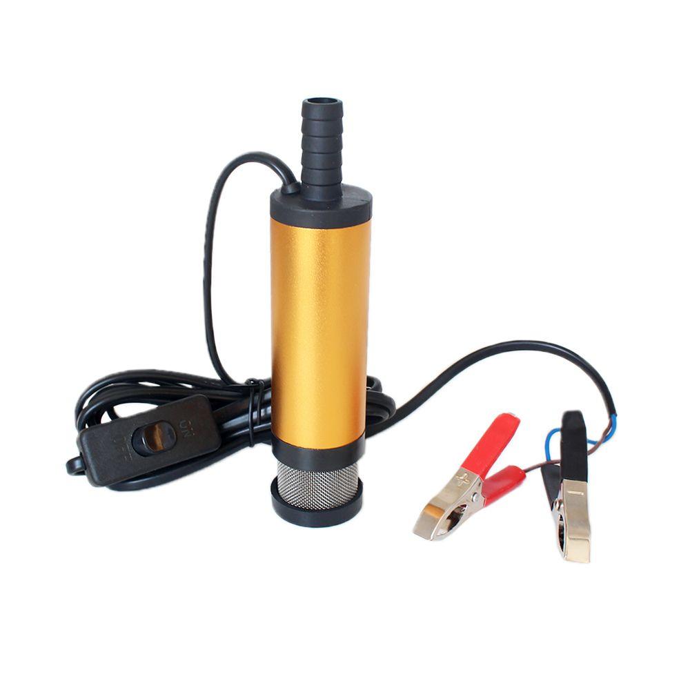 12V 24V DC electric submersible pump for pumping diesel oil water,Aluminum alloy shell,12L/min,fuel <font><b>transfer</b></font> pump 12 V volt 24