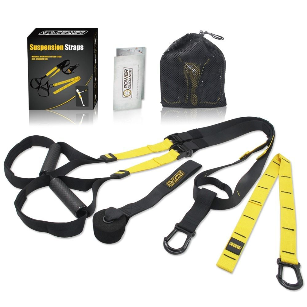 Home Fitness Exerciser Suspension Trainer Belt Resistance Bands Crossfit Equipment Strength Hanging Training Strap