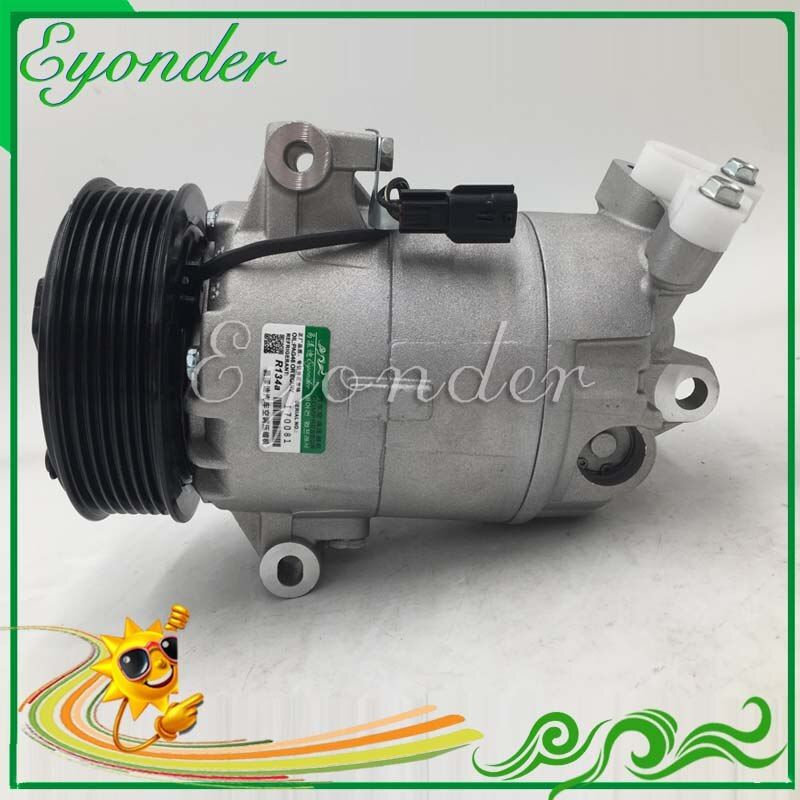 A/C AC Air Conditioning Compressor Cooling Pump CVC PV7 for NISSAN QASHQAI DUALIS J10 JJ10 M9R dCi 2.0 92600JD73A 92600JD74A