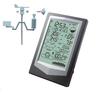 Sans fil Station Météo Avec PC Lien Ménage Grand ÉCRAN LCD Thermomètre Hygromètre Pression Barométrique Prévisions Météo Horloge WS1040