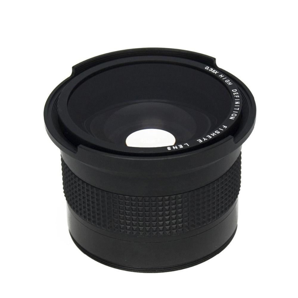 Lightdow 0.35x58mm Super Fisheye Objectif Grand Angle + Macro objectif pour 58mm Canon 70D 60D 7D 6D 700D 650D 600D 550D 1100D 18-55mm Lentille