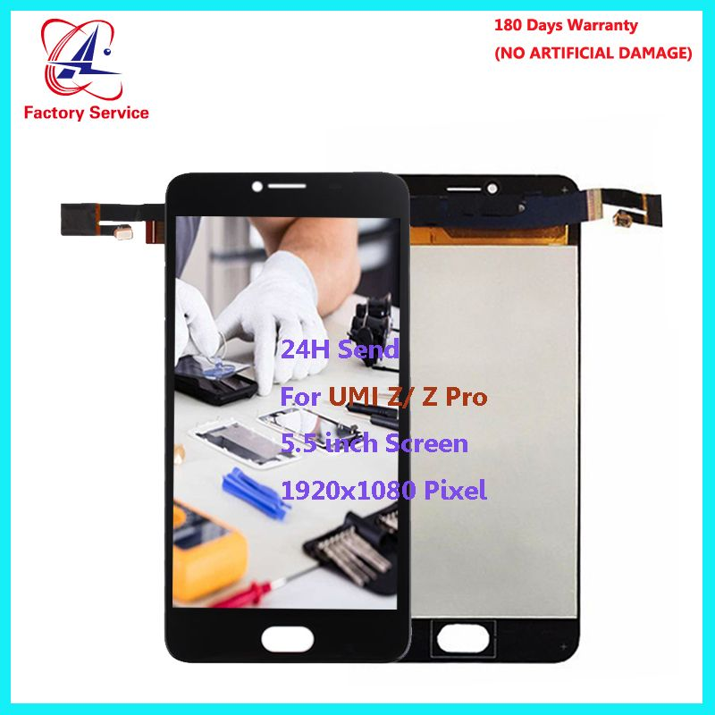 For Original UMI Z LCD Screen Display+Touch Screen Digitizer Sensor Assembly Replacement 5.5