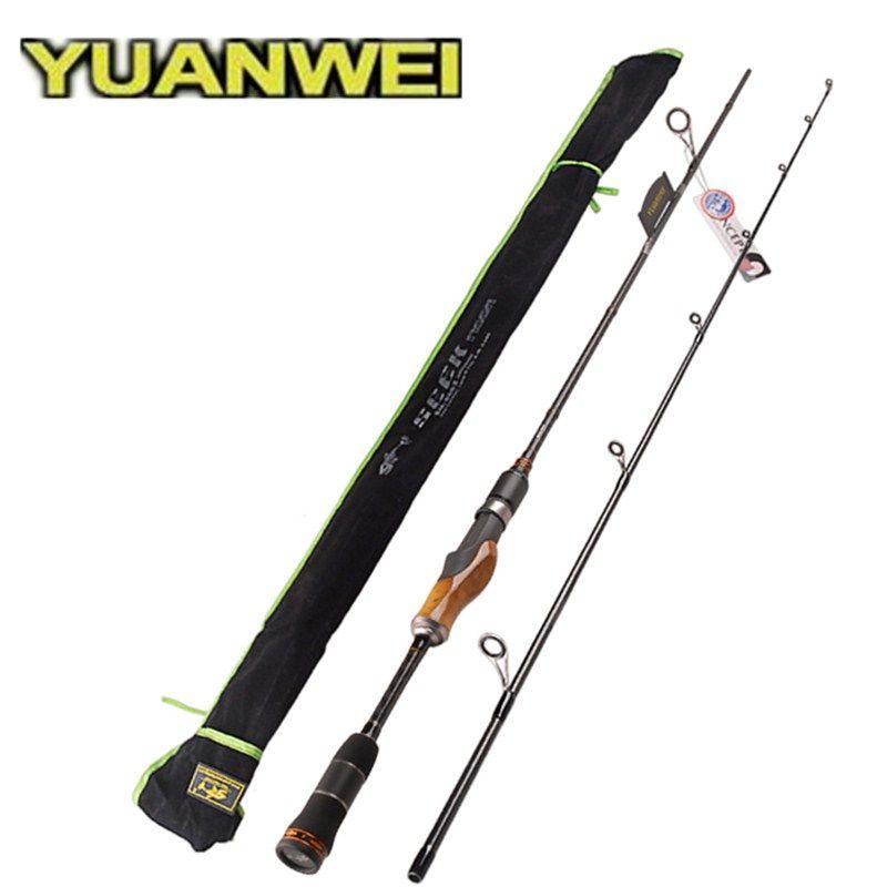 YUANWEI 1.98m 2.1m 2.4m Spinning Fishing Rod 2Sec ML/M/MH Wood Root Hand Carbon Lure Rod Stick Vara De Pesca Olta Fishing Tackle