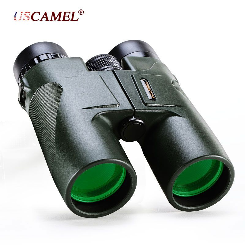 USCAMEL Military HD 10x42 Binoculars Professional Hunting Telescope Zoom High Quality Vision No Infrared Eyepiece <font><b>Army</b></font> Green