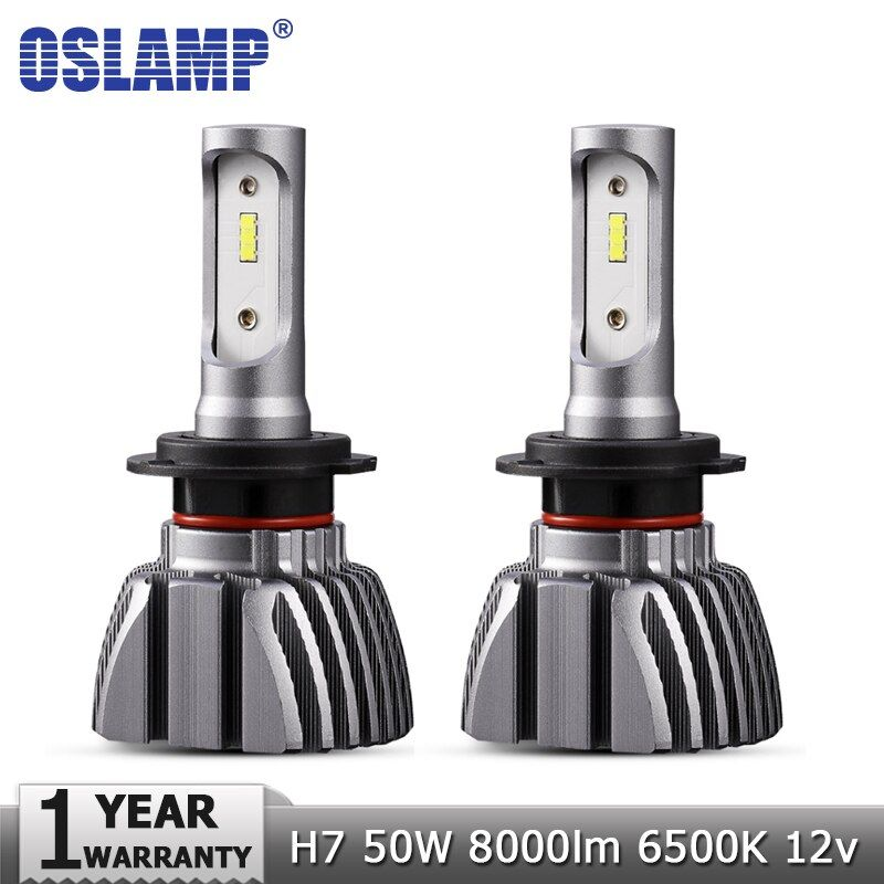 Oslamp H7 LED Car Headlight Bulbs Led Light 50W 8000lm 6500K Auto Headlamp CSP Headlights 12v 24v for VW Golf SKODA CHERY HYUNDA