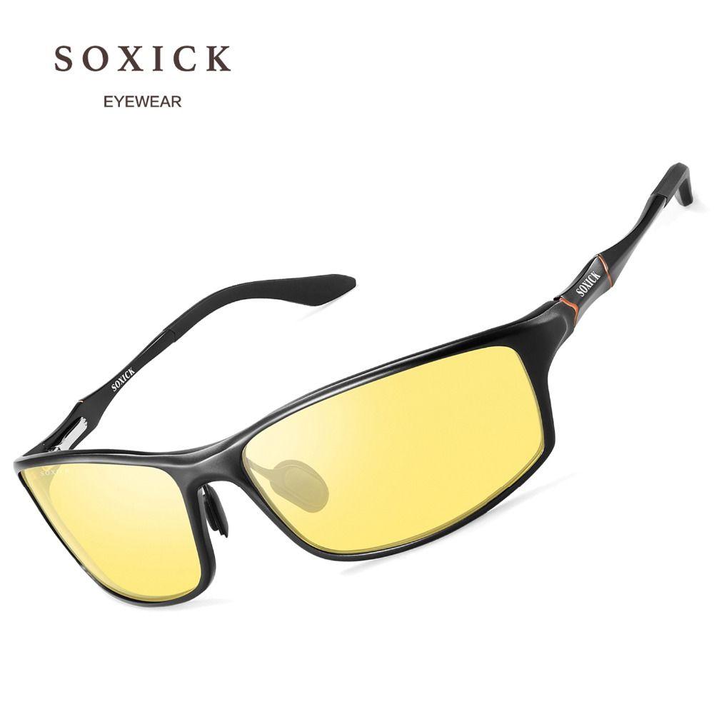 SOXICK Marke Brillen Sicherheit Polarisierte Nacht Version Sonnenbrille für Männer Frauen Gelb Objektiv Anti Glare Outdoor Sport Sonnenbrille