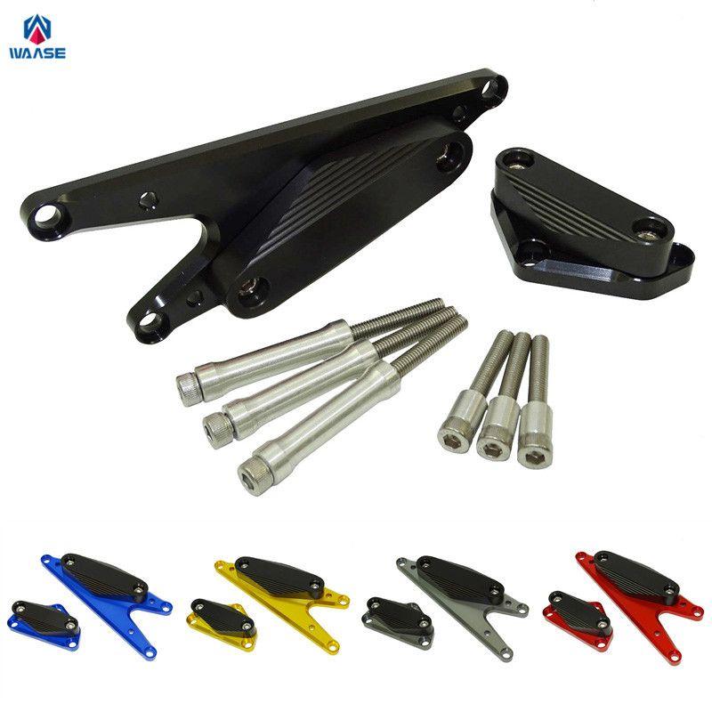 Waase мотоциклетные Двигатели для автомобиля статора стартера крышка гвардии ночлега ползунки protectior для Suzuki Bandit 1250 GSF1250 2007 2008-2017