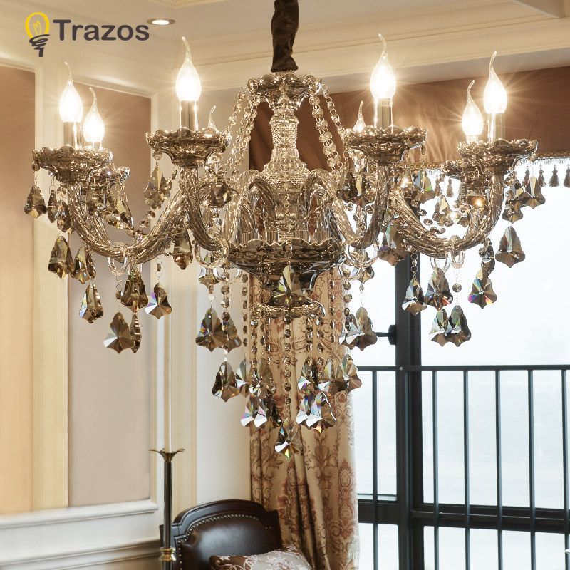 Luxury Crystal chandelier For Living Room lustre sala de jantar cristal Modern Chandeliers Light Fixture Wedding Decoration
