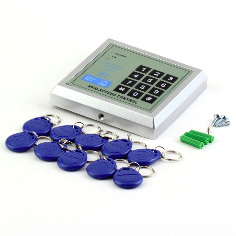 1 satz Sicherheit Elektronische RFID Proximity Eintrag Türschloss Access Control System + 10 Schlüsselanhänger hot suchen