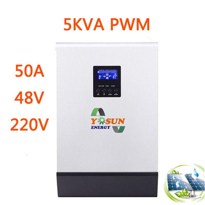 PWM Solar Inverter 10/15/20KVA 48 v zu 220 v 2/3/4 stücke Parallel reine Sinus Welle Inverter DC 50 hz Solar Ladegerät Batterie Inversor