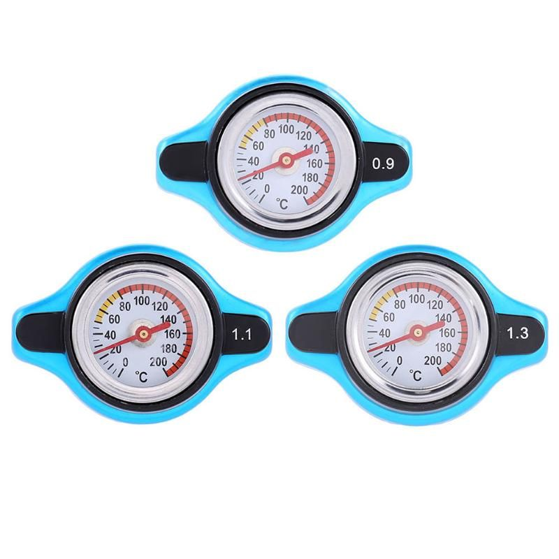 0.9/1.1/1.3 Bar Universal Car Vehicle Radiator Cap Cover Water Temperature Meter Thermostatic Gauge Auto Replacement Accessories
