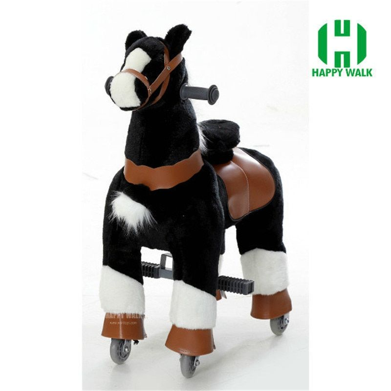 HOT SALE Life M Size Horse Toy Mechanical Horse Toys Walking Horse Toy Cavalos Brinquedos Scooter New Year Birthday Gift for Kid
