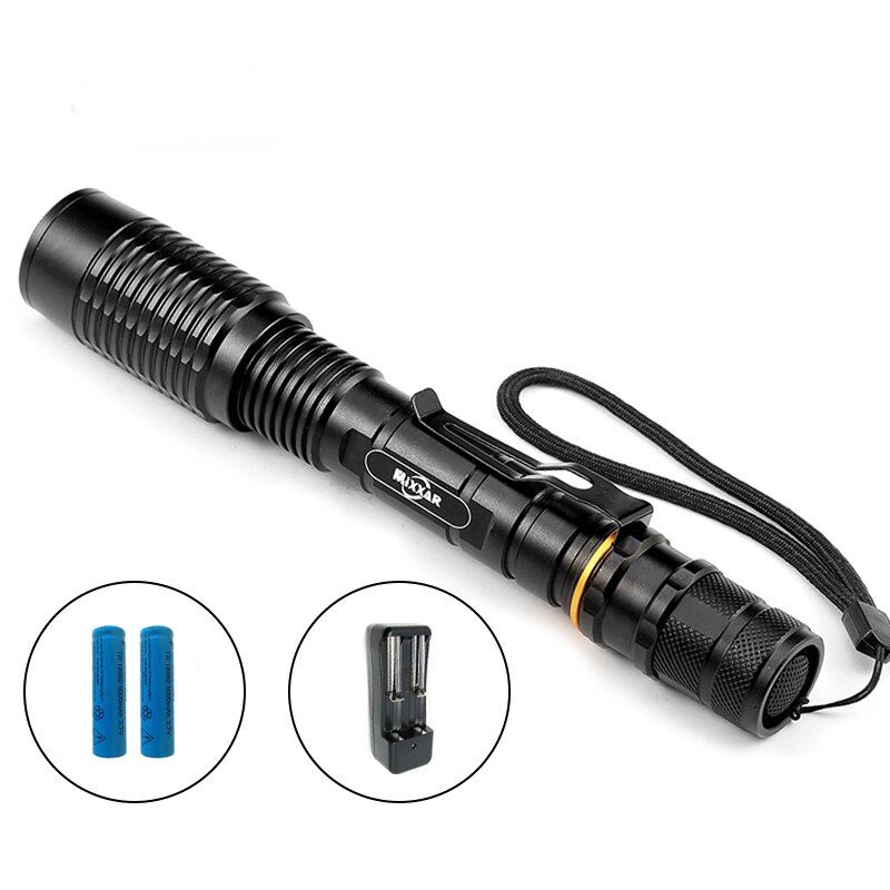 ZK30 Leistungsstarke Wasserdichte Led-taschenlampe Lampe Taschenlampe Zoombaren Lanternas Taktische Militärische Polizei Camping Taschenlampe