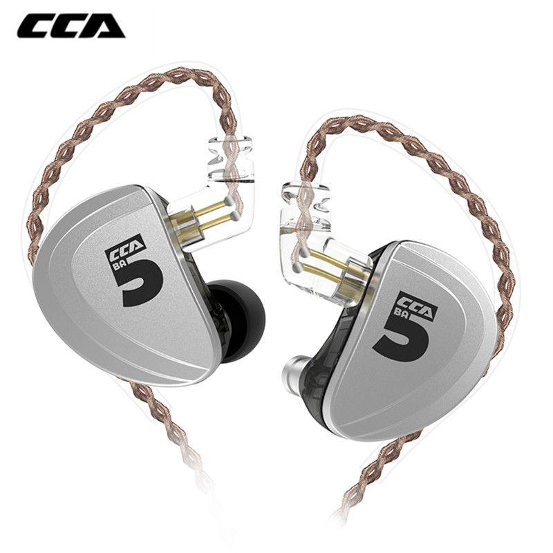 Neue CCA A10 In Ohr Kopfhörer 5 Ausgewogene Anker Fahrer HIFI Bass Monitor Kopfhörer Earbuds Mit 2pin Kabel für KZ ZS10 PR