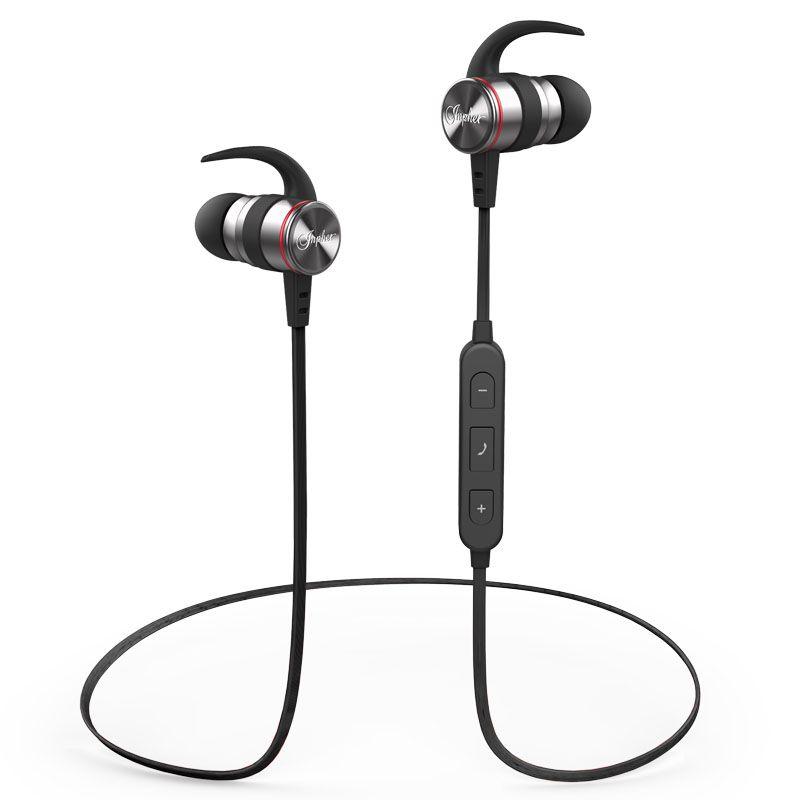 Inpher S81 sport écouteurs sans fil bluetooth 4.1 casque stéréo sweatproof casque HIFI avec Mic appels mp3 musique earb