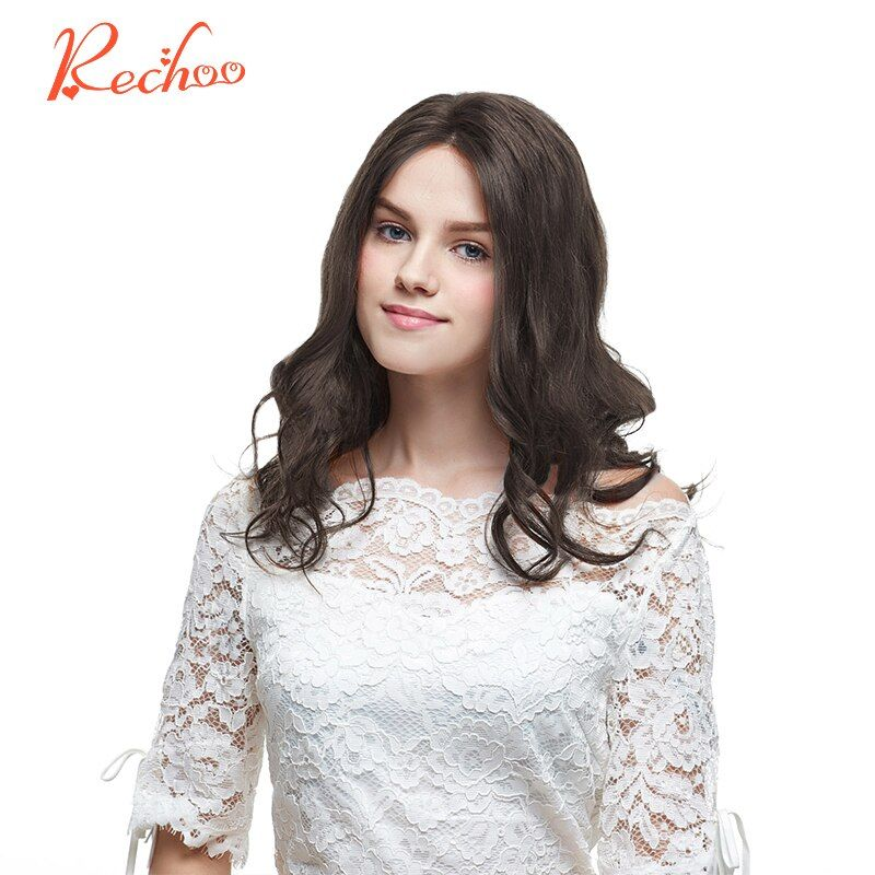 Rechoo Machine Made Remy Clip in Human Hair Extension Full Head Malaysian Body <font><b>Wave</b></font> Clip ins #4 Color 100G 120G 18 22 Inch