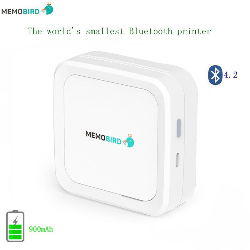 New Bluetooth 4.2 Portable Printer MEMOBIRD G3 Phone Photo printer Pocket Mini Sticker Thermal printer USB Micro connector