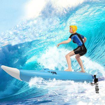 Jouets d'été Haute Vitesse Bateau grand RC Surfer Planche De Surf Électrique Radio Contrôle Hors-Bord Bateau Modèle pour Enfants piscine d'eau jouer