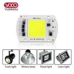 SMD COB Spotlight AC 220 V Led Ampoule Puce Haricots Smart IC 20 W 30 W 50 W Économie D'énergie Lampe Extérieure Blanc/Chaud Souper Lumineux Lumière