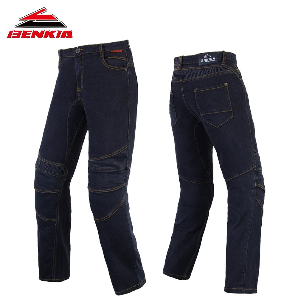 BENKIA Motorcycle Pants Windproof Moto Jeans Man Motorbike Racing Pants Pantalon Motorbike Pants Motorcycle Trousers PC43
