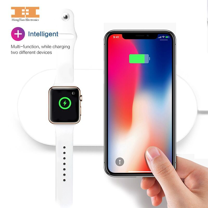 Wireless Charger Quick Charge Wireless Keyboard for iPhone X 8 8plus Samsung S7edge S8;iPhoneX and iWatch2 or iWatch3 Apple