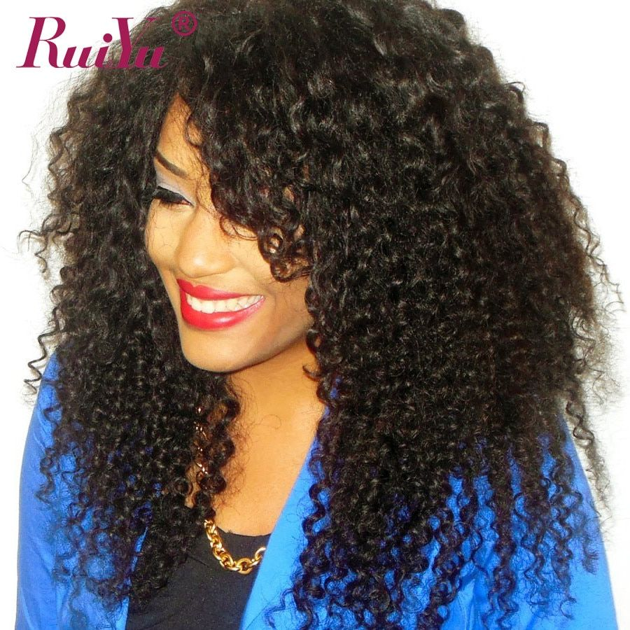 Kinky Curly Wig Lace Front Human Hair Wigs For Women Non Remy Natural Black Hair Brazilian Pre Plucked Wigs With Baby Hair RUIYU