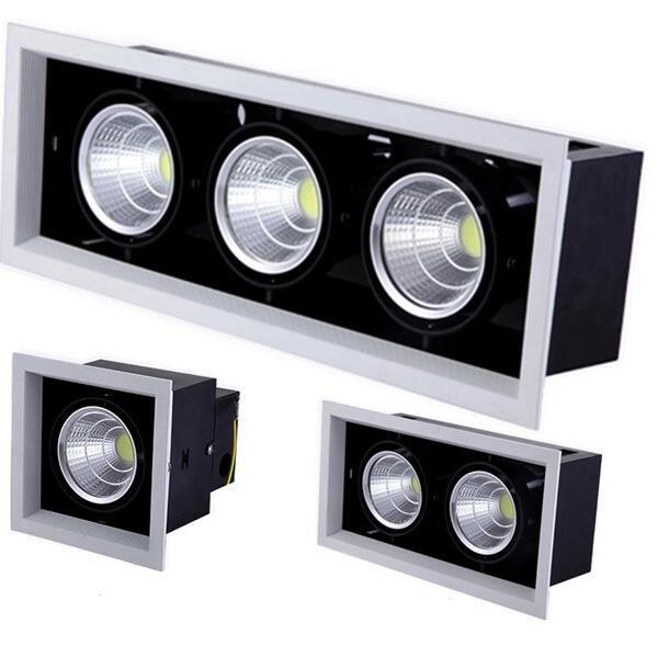 La double lumière menée Dimmable de tache de plafond de lumière de downlight 10 w 20 W 30 W ac85-240V a enfoncé l'éclairage d'intérieur de lumières