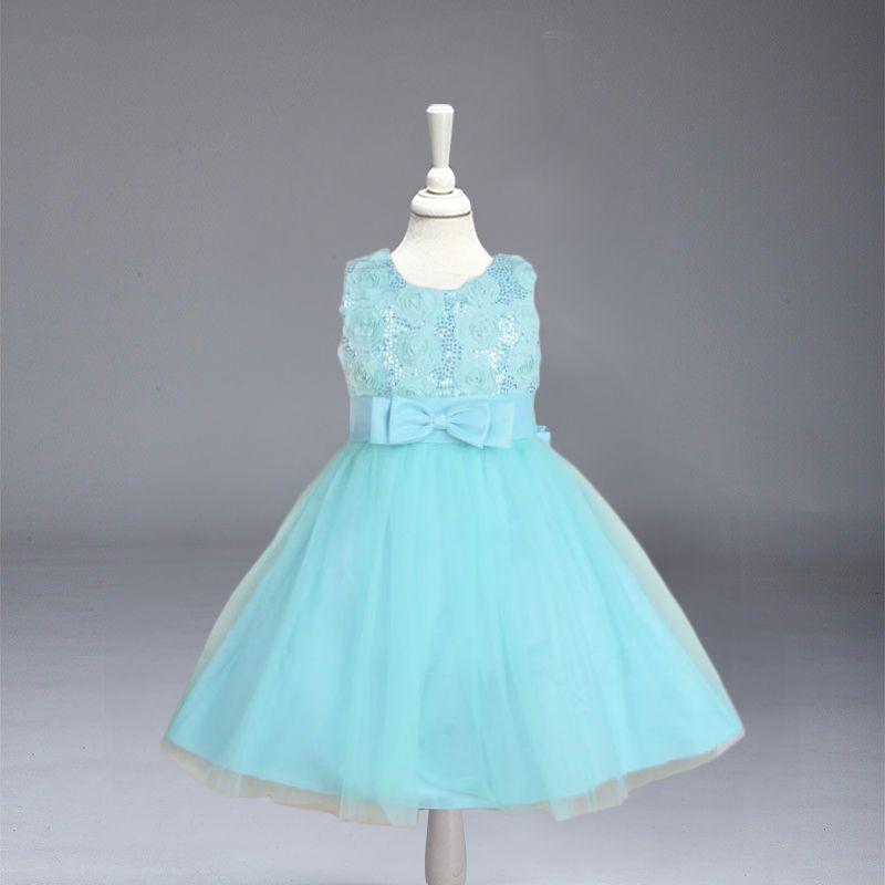 Розничная продажа, новые модные с цветочным рисунком для девочек летнее платье принцессы Детское платье для свадебных торжеств с бантом Бе...