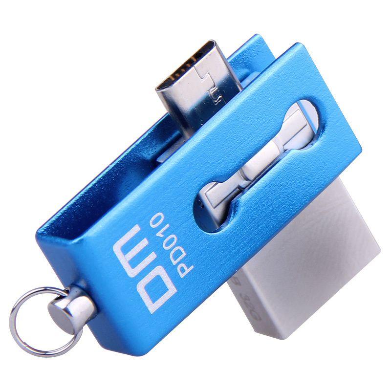 Lecteur Flash USB OTG PD010 8 GB 16 GB 32 GB USB2.0 avec double connecteur utilisé pour smartphone et ordinateur OTG