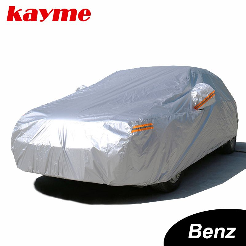 Kayme Waterproof full car covers sun dust Rain protection car cover auto suv protective for Mercedes benz w203 w211 w204 cla 210