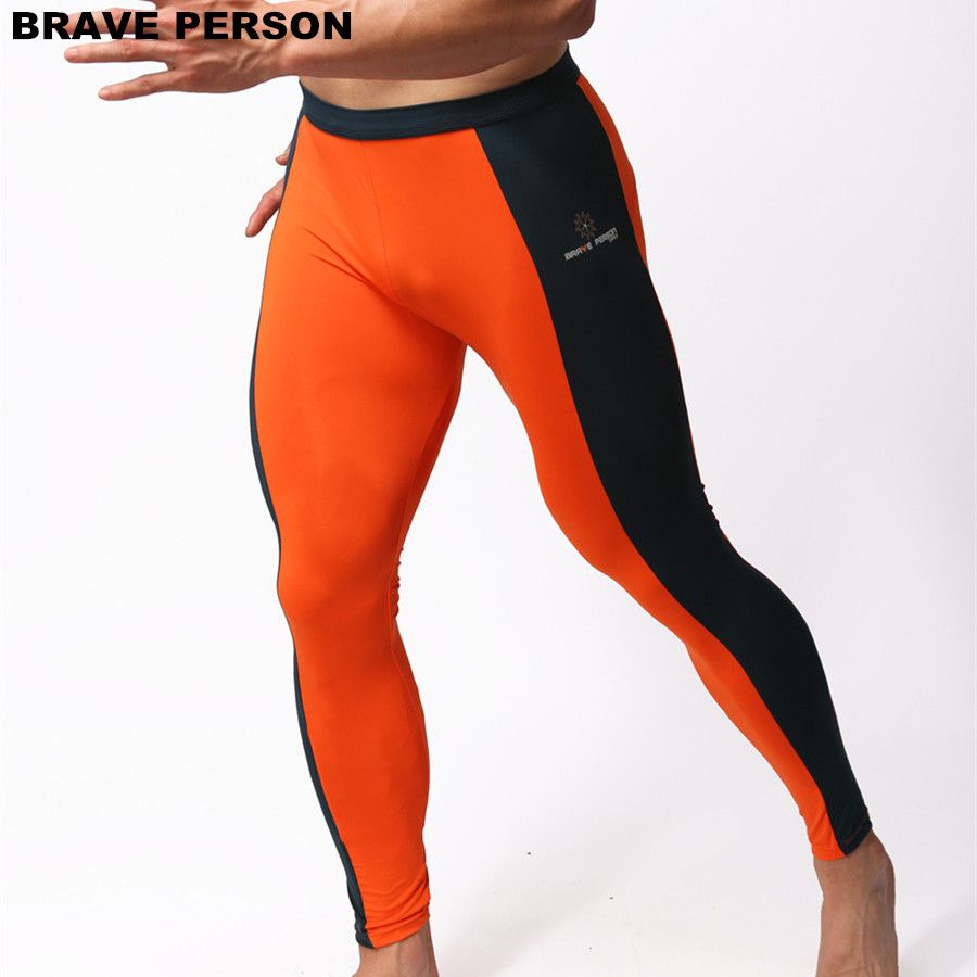BRAVE PERSONNE Hommes de Mode Doux Collants Leggings Pantalon En Nylon Spandex Sous-Vêtements Pantalon Musculation Long Johns Hommes Pantalon B1601