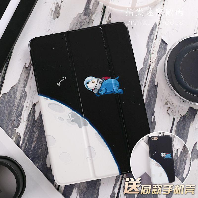 Espace Chien Aimant Flip Couverture Pour iPad Pro 9.7
