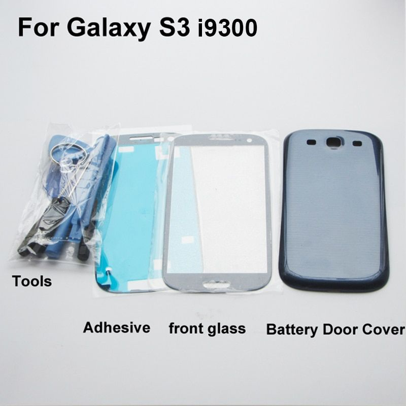 RYWILL Full Housing Case Replacement spare Parts for Samsung Galaxy S3 i9300 Battery Back Cover + Front glass + tools + sticker