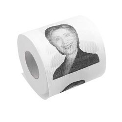 Hillary Clinton Donald Trump Dollar Humour Toilet Paper Gift Dump Funny Gag Roll  T32
