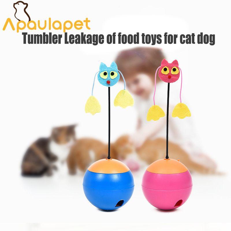 Apaulapet <font><b>Electric</b></font> Tumbler Toys Multi functional Laser Pet Cat Toys Tumber Leakage Food Toys Ball Toy Products