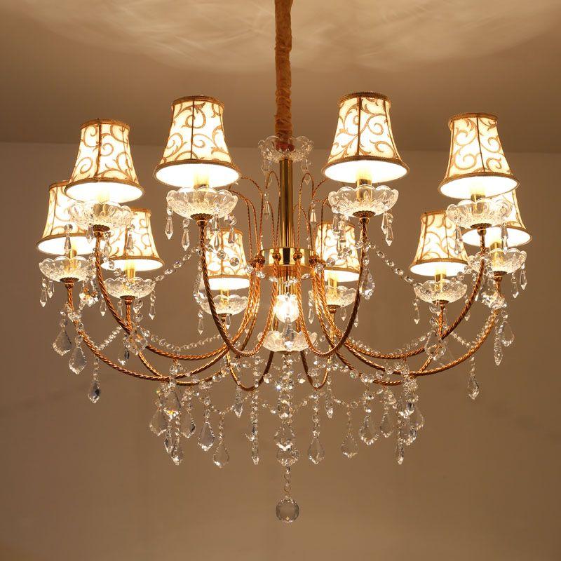 Longree Modern Crystal Chandelier For Stair Spiral Design LED Crystal Lamp Luxury Hanging Indoor Hallway Lighting Fixture