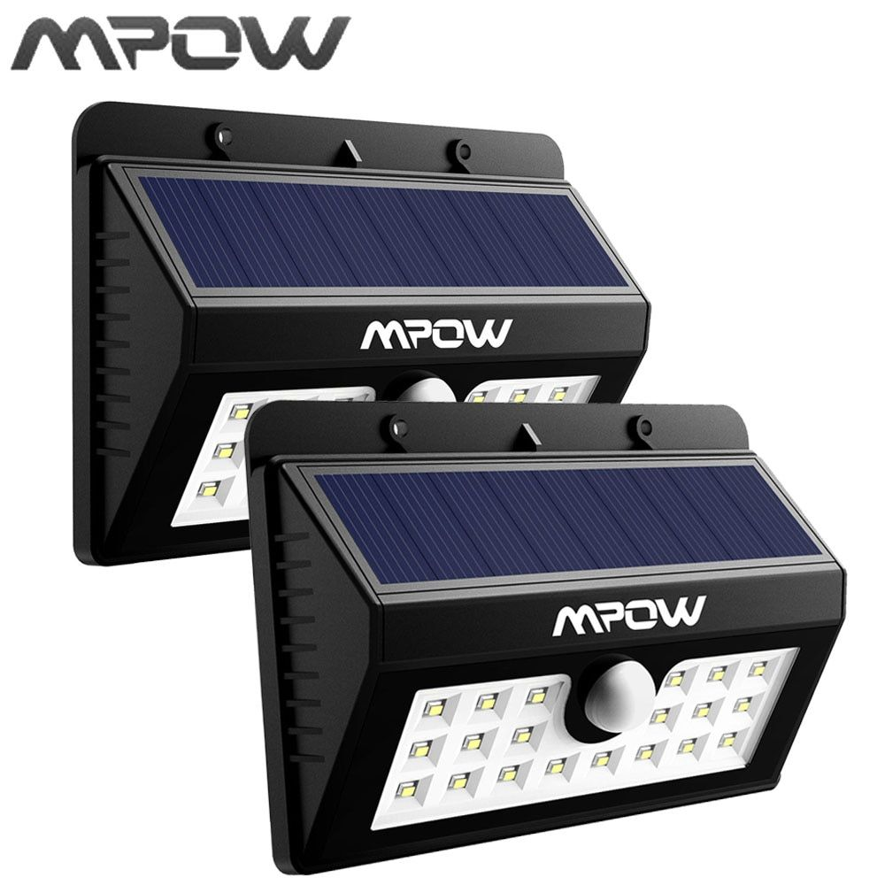 Mpow 20 LED Solar Powered Lighting Waterproof Wireless Security Motion Sensor Light for Patio Driveway Outside Wall Yard
