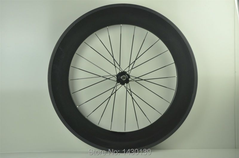 1pcs New 700C 88mm clincher rim Road Track Fixed Gear bicycle 3K UD 12K full carbon bike wheelset 20.5/ 23/ 25mm width Free ship