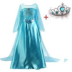 Gadis Elsa Gaun Cinderella Halloween Cosplay Kostum Fancy Pesta Anak Fantasia Menina Putri Natal Salju Putih COSPLAY