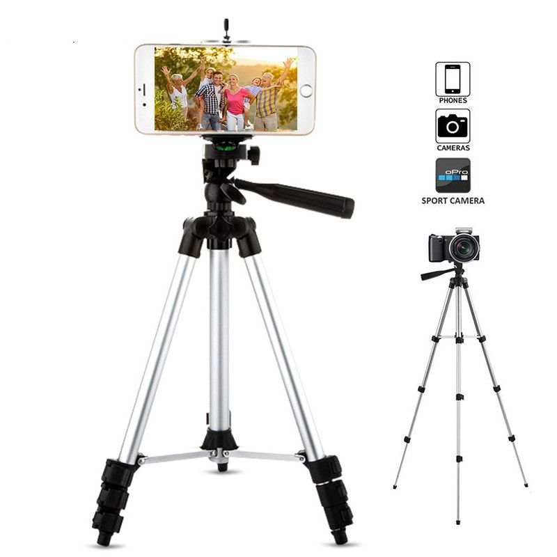 Trépied de caméra de téléphone réglable portable support de montage de support Flexible ensemble de pinces trépieds universels pour téléphone pour iphone Samsung Z2
