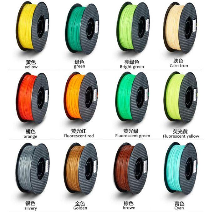 Colorful 3D Filament PLA 1.75mm 3D Printer Filament Materials For 3D Printing Pen 3D Printer 1KG