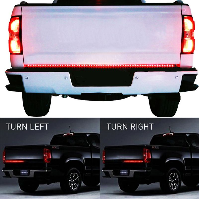 OKEEN 90LED 60 Red/white Tailgate LED <font><b>Strip</b></font> Pickup led Bar for Reverse Brake Turn Signal for Ford Dodge Ram Chevy jeep SUV