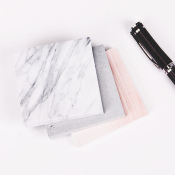 1 шт. (75 листов) цвет мраморного блокнота самоклеющаяся липкая бумага для заметок закладка для заметок школьные офисные поставки