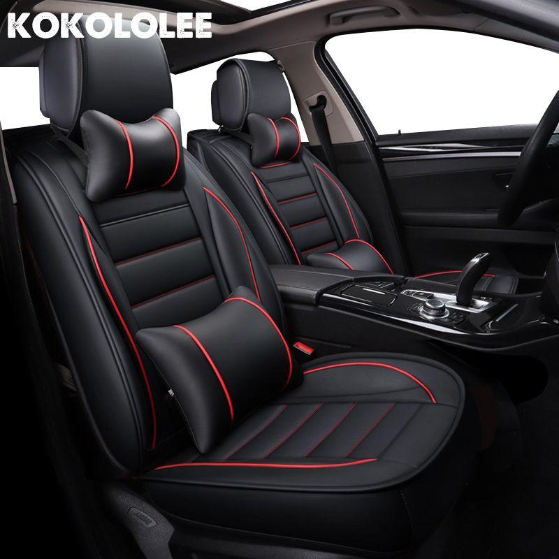 kokololee pu Leather Car Seat Covers for kia rio 4 renault captur nissan mercedes w204 peugeot 308 audi a4 Automotive seat cover