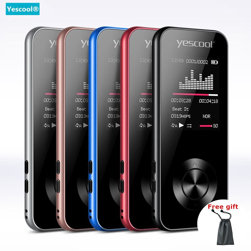 Yescool X2 1.8 Inch MP3 player Bluetooth lossless hifi music player speaker E-book FM radio voice recorder Mini sports walkman