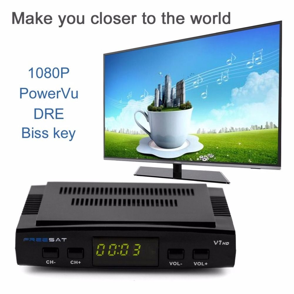 Original Freesat V7 DVB-S2 1080P HDTV HD Digital Satellite Receiver Receptor Decoder in High Quality 2017 NEW ARRIVAL