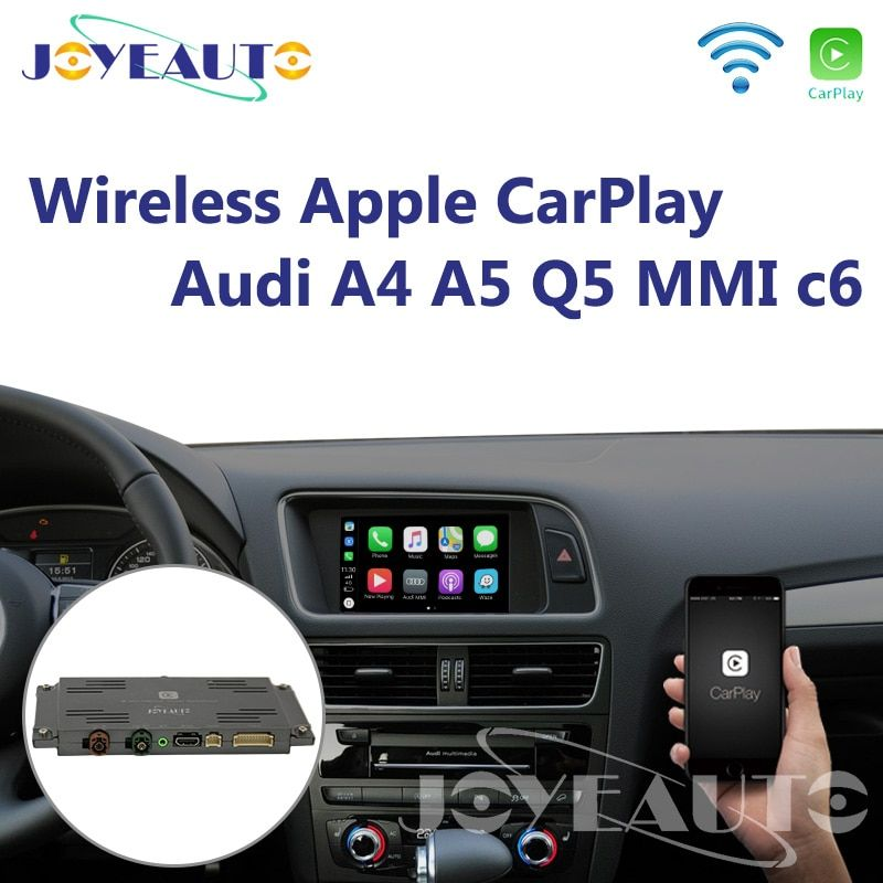 Joyeauto Aftermarket A4 A5 Q5 MMI 3G A6 A7 c6 OEM Wifi Drahtlose Apple CarPlay Interface Retrofit für Audi mit Reverse Kamera