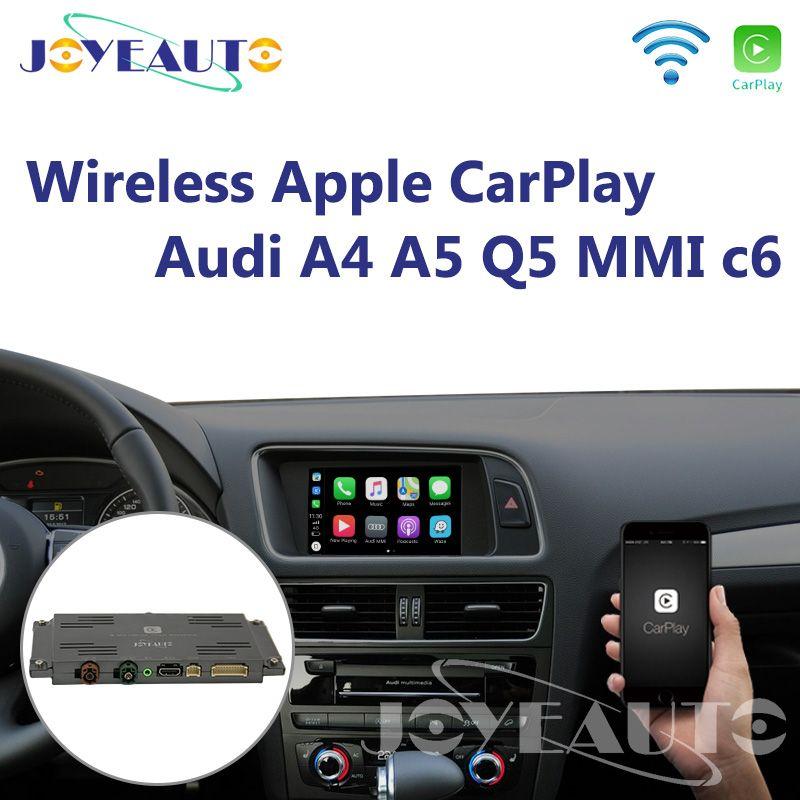 Joyeauto Aftermarket A4 A5 Q5 MMI 3G A6 A7 c6 OEM Wifi Drahtlose Apple CarPlay Interface Retrofit für Audi mit Reverse Kamera